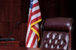 Hearing Officer Chair and American Flag