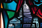 Stain glass of U.S. Capitol